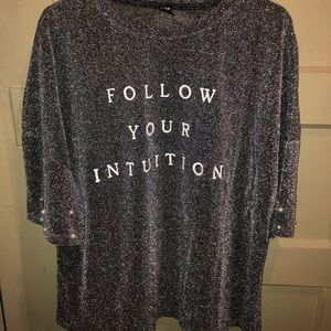 """""""Follow your intuition"""" t shirt"""